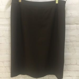 Lafayette 148 NY chocolate brown pencil skirt 10